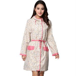 adulto moda femenina FreeSmily estilo japonés Corea lindo rompevientos impermeable blanco pequeño borde rojo floral de la correa ultra delgado