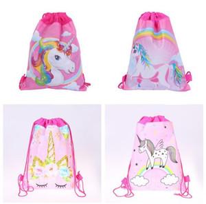sac de rangement pour enfants Cartable explosion chauds sac non-tissé de grands yeux faisceau dinosaure licorne B1 sac à dos de poche