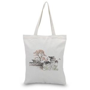 Sacs Sac fourre-tout réutilisable Eco sac à main bricolage Imprimer encre Casual Dessinez Sacs shopping