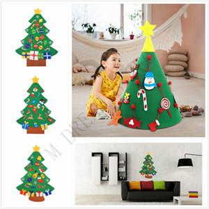 Мода DIY Войлок елку с украшениями двери стены вися Дети Обучающие Подарок Xmas Tree Главная Украшения