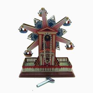 NB Tinplate Retro Wind-Up Playground Ferris Wheels, Clockwork Toy, Nostalgic Ornament, for Christmas Kid Birthday Gift, Collect, MS435, 2-1