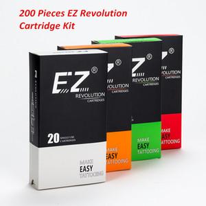 EZ Surtido Nueva Mezclado Revolución tatuaje cartucho de agujas RL RS M1 CM para la máquina Cartucho apretones de la fuente del tatuaje 200 PC / porción CX200805