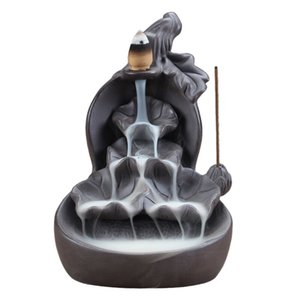 Kürbis Und Lotus Wasserfall Rückstau Räuchergefäss Censer Lila Ton Aroma Rauch Rückstauaroma Censer Home Decor-01