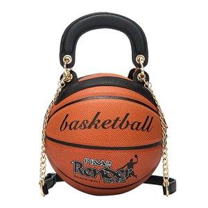 Moda Yuvarlak Basketbol Şekli Çanta Lüks Kadın Çantası Yaratıcı Basketbol Şekillendirme Omuz Çantası Çanta Kişilik