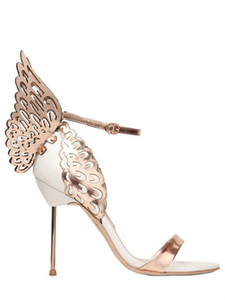 Free shipping 2019 Ladies leather patent hollow out high heel solid butterfly ornaments Sophia Webster open toe SANDALS SHOES 34-42