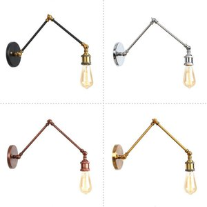 Europe Style Loft Wall Light Fixture Industrial Retro Rustic Antique Wall Lamp Edison Vintage Swing Arm Wall Sconce Abajur Lampe