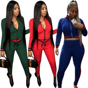 Europe and the United States sexy women's autumn new explosion models fashion thread stitching casual sports suit