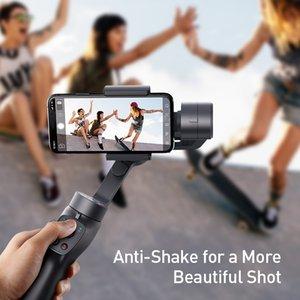 منتج جديد Selfie Stick 3 محور محمول محوري مثبت في الهواء الطلق Holder w / Focus سحب تكبير لـ Iphone Action Camer