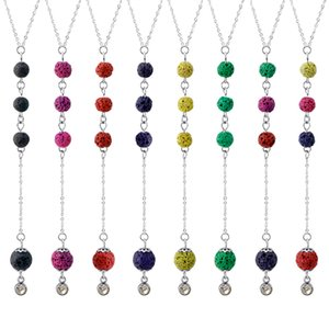 Volcanic rock DIY handmade jewelry accessories titanium steel 50cm chain color volcanic stone can absorb aromatherapy essential oil pendant
