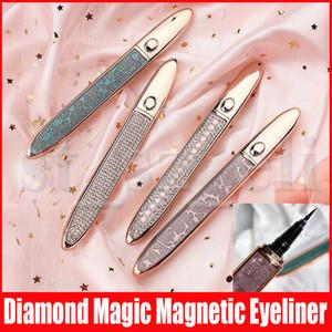 Magic Diamond Eyeliner magnétique Long Lasting Traceur liquide forte aspiration magnétique Cils Eye Liner Noir Café Transparent 3 couleurs