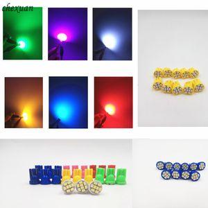 100pcs LED T10 8 smd 1206 8LEDs 8SMD coche de la luz interior 194 168 192 W5W 3020 Auto cuña de iluminación DC 12V