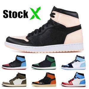 Mode Crimson Tint femmes chaussures de basket-ball jack cactus Pin vert 1s 1 UNC Chicago sans Peur Backboard Shattered baskets 3,0 hommes