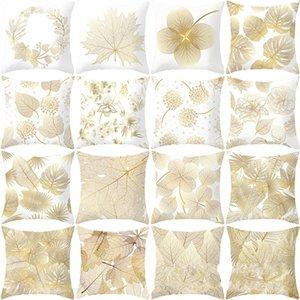 Hoja de impresión de la flor funda de almohada patrón Digital Pillowslip Square Pillowslip Piel almohada Home Decorate suave Eco Friendly 4jz C1