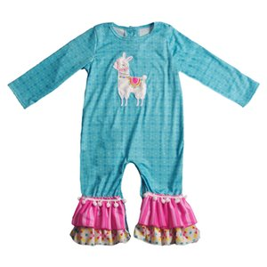 Conice Nini Baby Alpaca Patrón Boutique Romper Popular Infantil Ruffle Ropa Chica Niños Algodón Chica Romper 2gk811-820 J190525