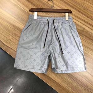 2020 del progettista del Mens estate dei pantaloni di bicchierini di modo di 4 colori lettera stampata con coulisse Shorts 2019 Relaxed pantaloni della tuta di lusso Homme
