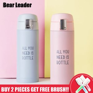 Bear Leader 350 ml Isolierflaschen Thermoskanne Tasse Edelstahl Tragbare Outdoor Bounce Wärmedämmung Becher Isolierflaschen Tassen