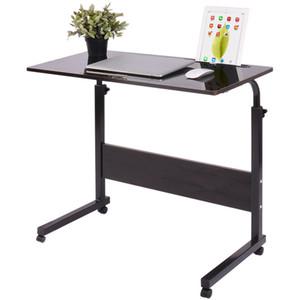 Amovible pour ordinateur portable Table lit Bureau Table de chevet Support pour ordinateur portable canapé-lit réglable Bureau d'ordinateur portable avec roues 40 * 60CM