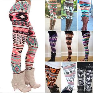 2xl Natal flocos de neve rena impresso seda leggings leggings mulheres coll colorido faixa manta calças nórdicas meninas adultas aquecidas calças grandes tamanho grande
