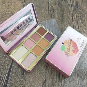 Mais nova marca Cosmetic Faced Tickled Peach Mini Eyeshadow Marca paleta Up Palette férias Chirstmas 8color sombra cheiro como pêssegos