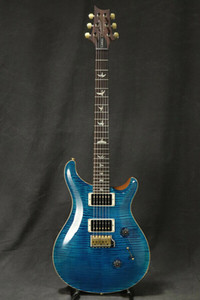 Custom 24 10 Top Pattern Thin Aquamarine Electric Guitar Blue Flame Maple Top Signature China Made Guitars