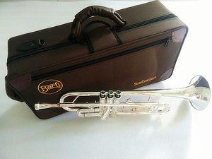 Prata banhado Bach Stradivarius Professional Bb trompete LT180S-43 prata banhado Instrumentos Musicales Profesionales Bocal