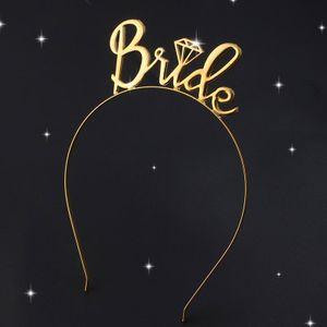 Ребёнки Alloy Письма невесты Свадебный гостей волос обруча Western Crown Flower Headdress ободки Дети Голова Across