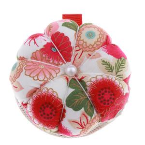 Wrist Pin Cushion zucca Wrist Band Pin Cuscini Wearable Ago Puntaspilli per cucire (modello di fiori multicolore)