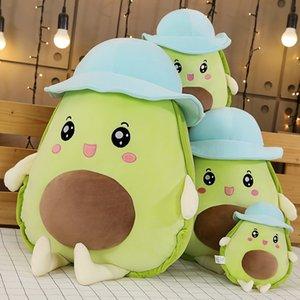 Kawaii Avocado Spielzeug Tiere Plüschtier Plüsch Obst Lebensmittel-Plüsch-Spielzeug Weich Stuffed Avocado Kissen Mädchen Kissen für Kinder bequeme Kissen