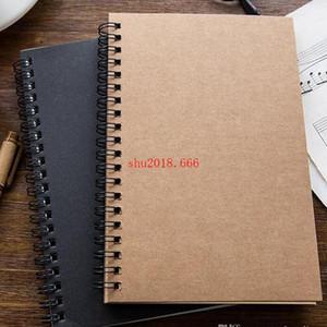 Negócio Portátil Kraft Papers Notepads Desenho Preto Esboço Notebook Spiral Notebooks Jornal Escola Fornecedores