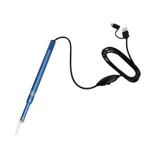 3 in 1 USB Endoscope HD visuelle Ohren Reinigung Earpick Löffel mit 6 LED-Licht Ohr Reinigungswerkzeug Ohrmassage für Android-Handy (OTC) PC