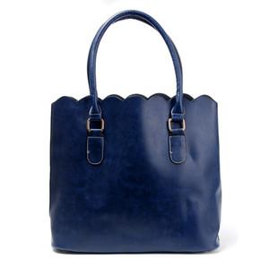 Alta designer de moda personalizado por atacado Blanks Moda scalloped tote bag bolsa ocasional com grande capacidade recortada Bolsa DOM103172
