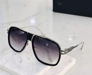 Occhiali da sole uomini puri di titanio Dita lenti in cristallo originale occhiali da sole alla moda retrò DA2077 moda stilista in metallo d'epoca occhiali occhiali