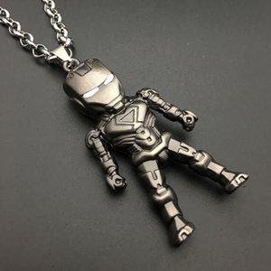 Joyería de Hip Hop Marvel Iron Man collar hermoso del héroe enmascarado colgante de collar collar que chicos como