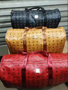 Горячий бренд мужчины роскошные женщины дорожная сумка искусственная кожа вещевой мешок бренд дизайнер багажа сумки большой емкости спортивная сумка55*25*30см