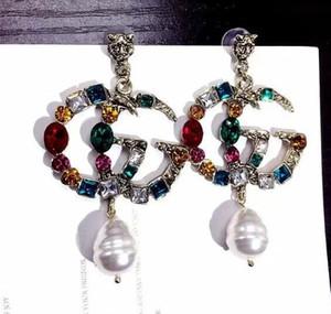 2019 Women's Jewelry Fashion Earrings Letters 18K Silver Plated Sterling Silver Women's Earrings E027322