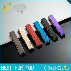 New mini thin strip metal chargeable lighter windproof cigarette lighter USB lighter