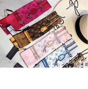 Fashionable hair band for men Designer and women scarf brand scarf silk bow ribbon fashion bag handle bindin