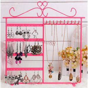 Earrings Ear Studs Necklace Jewelry Display Holder Stand Chain Organizer Rack Jewelry prop display Metal wrought iron jewelry Racks