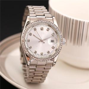 38mm data automático calendário de moda de luxo de Ouro e prata pulseira de movimento do cinto de liga de aço de quartzo mestre relógio homem presentes