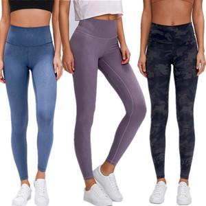 LU-2020 D19037-2 nouvelles jambières Lady FEMMES gymnase de sport Lululemon lulu Yogaworld yoga Pantalon taille haute élastique Fitness plein Collants