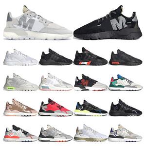 adidas nite jogger boost    reflexivo tênis para mulheres dos homens triplo preto branco respirável treinador sports sneakers tamanho 36-45