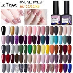 LEMOOC Gel Nail Polish Hybrid Varnishes All For Manicuring Nails Art Semi Permanent UV Led Gel Polish Nail Design Base Top Coat