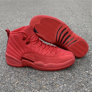 Best Quality 12s Gym Red Black Designer Sneakers New Brand XII Suede Bulls Fashion Sports Trainers 100% Real Carbon Fiber With Original Box