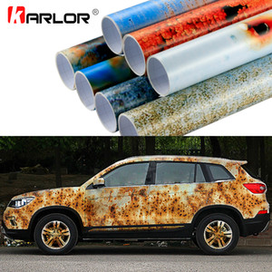50x200cm Iron Rust Vinyl Wrap Film Wrapping Colored Car Full Body Wrap Vinyl Sticker Bomb Automobiles Motorcycle Car Accessories SH190913