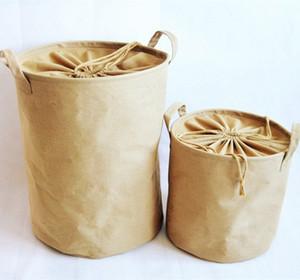Cotton Linen Dirty Laundry Basket Foldable Storage Basket Laundry Bucket Storage Household Finishing Supplies
