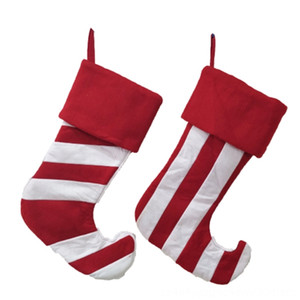 2Pcs Stockings Gifts Candy Bag Kids Candy Socks Decorations Festive & Party Supplies Christmas Tree Home Decoration Christmas Tree Hang Pend