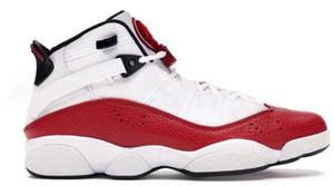 6 6s seis anéis de basquetebol Treinadores calça as sapatilhas Ir Concord University Branco Vermelho Bred Ginásio Branco Preto Espaço Red Matte Prata 2019 Shoe