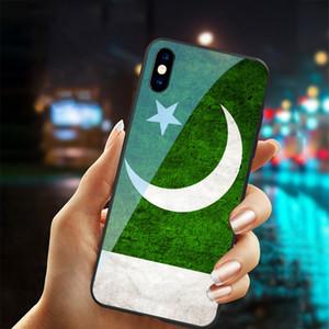 Caso bandeira Telefone frete grátis Vidro temperado Paquistão Nacional para iphone X XS Mas 6 6s 7 8 mais casos Paquistão para o iPhone 11 PRO MAX TAMPA