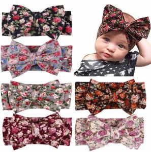 Boho 다채로운 아기 신생아 유아용 머리띠 리본 탄성 아기 어린이 헤어 밴드 소녀 활 매듭 머리 장식품