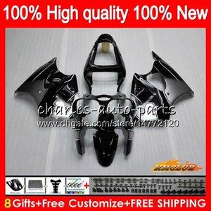 Bodys Para KAWASAKI ZX600 600cc preto cinza quente ZZR600 05 06 07 08 Carroçaria 38HC.11 ZX600CC ZZR600 ZZR 600 2005 2006 2007 2008 OEM Fairing